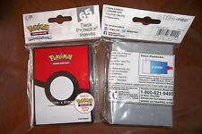 Pokemon 65X Protèges Cartes Sleeve Deck Protector POKEBALL Ultra Pro