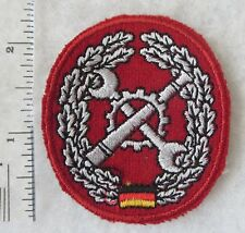 WEST GERMAN BUNDESWEHR ARMY MAINTENANCE BERET BADGE PATCH COLD WAR Vintage