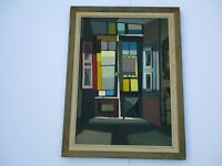 FINEST TRICOMI OIL PAINTING MID CENTURY MODERN ABTSTRACT CUBIST CUBISM 1960'S