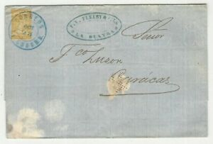 Venezuela: 1862; Scott 4, letter in watermarked paper with interesting VS0154
