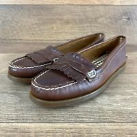 NIB Sperry Top Sider Avery Tan Leather 9294711 Penny Loafers Women's Size 9.5 US