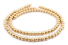 Gold Natural Wood Beads 8mm Round 16 Inch Strand