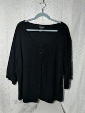 Lane Bryant black cardigan 3/4 sleeves 26/28