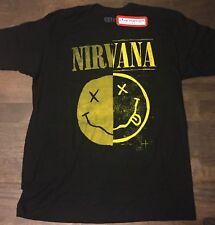Nirvana T-Shirt - Men's Large - Smiley Face