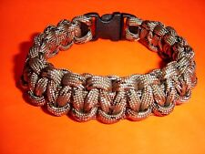 550 ParaCord Survival Cobra Braided Bracelet Desert Camo #1 - Fits up to 7 1/2""