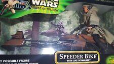 Star Wars Power of the Jedi 12 inch LUKE SKYWALKER in Endor Gear on SPEEDER BIKE