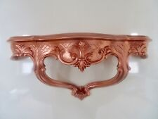 Wall Console/spiegelkonsolen/Wall Shelf Copper Varnished Baroque Antique B: 45cm