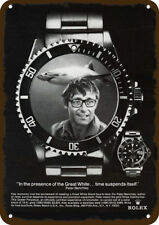 1975 JAWS Movie Author PETER BENCHLEY & ROLEX Vintage Look REPLICA METAL SIGN