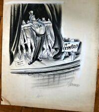 Bill Crawford original cartoon artwork. 1948