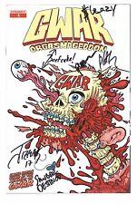 GWAR ORGASMAGEDDON #1 Comic Book Retailer Edition 1:100 signed by ENTIRE BAND
