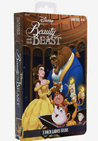 Disney Beauty and the Beast VHS Socks 3-Pairs New Women's Size 4-10 New