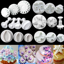 Plastic Plunger Cookie Cutter Mold Fondant Sugarcraft Mould Cake Baking Decor