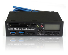 5.25 USB 3.0 High Speed Media Dashboard Front Panel PC Multi Card Reader