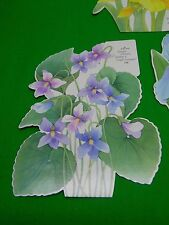 1981 hallmark garden flowers gather a bright bouquet figural cards set of 3