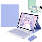 Bluetooth Keyboard Smart Case Cover With Mouse For iPad 7/8th 6th&5th Gen Air 4