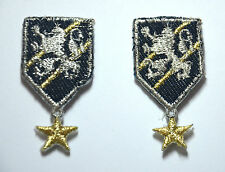 2pcs MEDALS ARMY TRIMMING  Embroidered Sew Iron On Cloth Patch Badge APPLIQUE