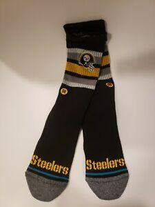 Stance x Pittsburgh Steelers Helmet Socks | Large Crew | NFL Football Men's 9-13