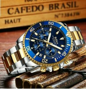 Special Men Watches Chronograph Waterproof Analogue Quartz gift