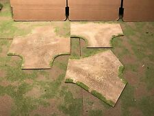 """28mm, 5""""  Intersection road sections,  3pc,  PAINTED"""