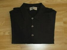Mens JOHN SMEDLEY L Large Merino Wool Knitted Button Up Jumper Long Sleeve VGC!