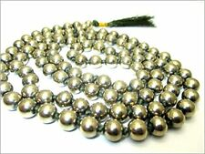 Jet Pyrite 108 Beads Knotted Mala 8 mm Prayer Japa Necklace Gemstone Reiki In