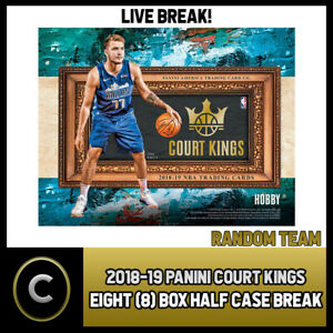 2018-19 PANINI COURT KINGS BASKETBALL 8 BOX 1/2 CASE BREAK #B133 PICK YOUR TEAM