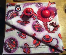 w/eye glass holder, Christmas Ornament, handkerchief. Lot 5 Red Hat Society Pin