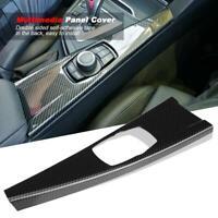 Carbon Fiber Interior Multimedia Panel Cover Trim For 3 4 Series F30 F34 F33 F36