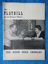 The Solid Gold Cadillac - Belasco Theatre Playbill - December 28th, 1953
