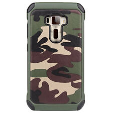 "Custodia cover camouflage RUGGED militare mimetica p Asus Zenfone 3 ZE552KL 5.5"""