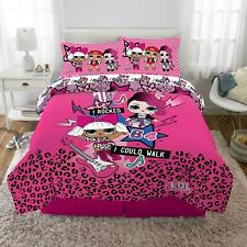 Lol Surprise Kid Bedding Set Full Size Bed-In-A-Bag Comforter Pillow Case Sheet
