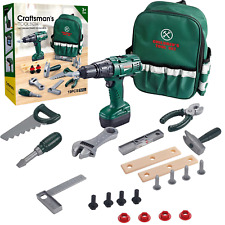 Kids Tool Set with Carry Bag Electronic Drill Pretend Construction Play Kit Box