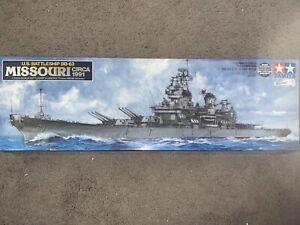 Tamiya, 1:350 scale, US Battleship BB-63 Missouri, Display Model Kit #78029