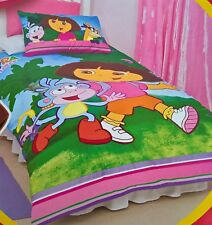 ~ Dora the Explorer - SINGLE BED DOONA QUILT DUVET COVER SET