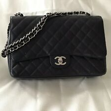 c9269b4ffe9a Chanel Classic Jumbo Black Caviar Double Flap Bag With Authenticity  Certificate