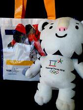 Pyeongchang 2018 Olympic Winter Games Soohorang PLUSH DOLL W/Visa Shopping Bag