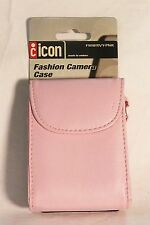 Icon leather fashion camera carrying case girly pink