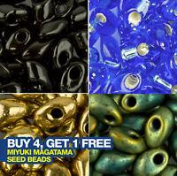 Miyuki Long Magatama Beads 4x7mm Seed Beads x approx 70 beads. Choose a Colour