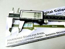 "iGaging IP54 Electronic Digital Caliper 0-6"""" Display Inch/Metric/Fractions Stainless Steel Body"