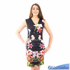 Mini abito donna sexy vestitino elegante elasticizzato smanicato estate DEABI015