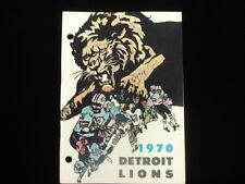 1970 Detroit Lions Media Guide EX+