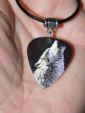 "Wolf Necklace Howling Wolves Choker! Silver Tone Peace Sign 17""-19"" Adjusts New!"