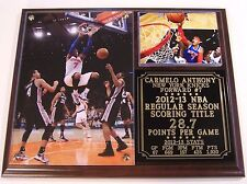 Carmelo Anthony #7 NBA Scoring Title New York Knicks Photo Plaque
