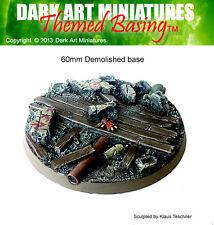 DAM Resin cast 60mm Demolished base (1)