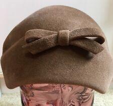 Vintage Cool Fashion Women Hat/Cap Deer Skin Brown Faux Suede