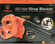600 Watt Compact Shop Blower Vacuum Vac by Torelli Tools Air Duster *BRAND NEW!*