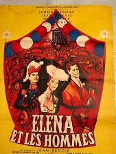 French 1sh Jean Renoir's ELENA ET LES HOMMES (1956)
