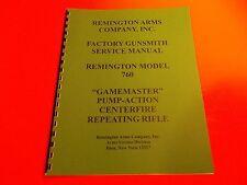 """DETAILED GUNSMITH MANUAL REMINGTON """"Gamemaster"""" MODEL 760 PUMP RIFLE"""