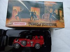 YFE12 MATCHBOX MODELS OF YESTERYEAR 1930 FORD MODEL A BATTALION CHIEFS VEHICLE