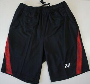 Yonex High Quality Clothing Men Shorts 12018TR-496 Black/Red, Made in Taiwan